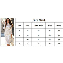 Load image into Gallery viewer, Nesa Fashion White Round Neck Lace Sheer Zipper Slim Body-con Dress Summer Elegant Women Pencil Dresses