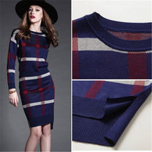 Load image into Gallery viewer, Nesa Fashion Autumn Winter Celebrities Suit Women Skirt Long Sleeve 2 Piece Set Office Women's Suits And Skirts Stripe Wool Knitwear Sweater Skirt