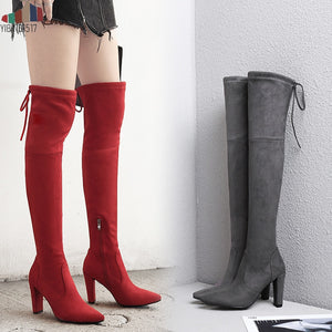 Nesa Fashion Sexy Winter Party Boots Fashion Leather Shoes