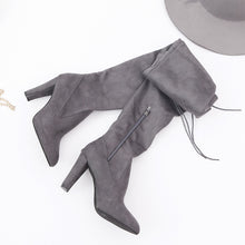 Load image into Gallery viewer, Nesa Fashion Sexy Winter Party Boots Fashion Leather Shoes