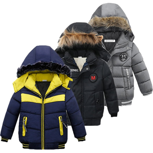 Nesa Fashion Children Jacket For Boys Coat  Autumn Winter Jackets For Boys Jacket Kids Warm Hooded Zipper Outerwear Coat For Boys