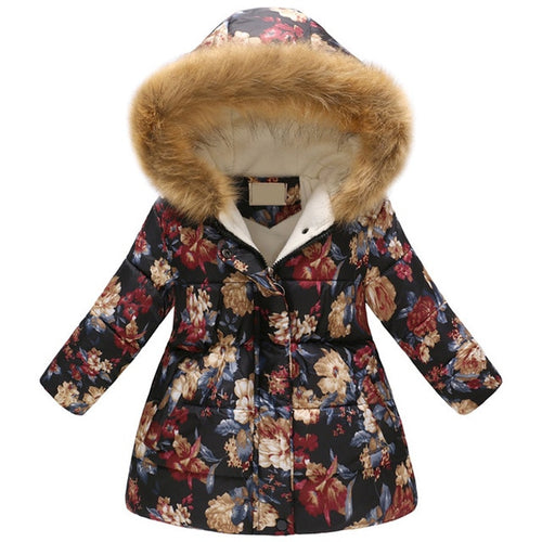Nesa Fashion Girls' jackets Winter Jacket For Girls Kids Cotton Jacket Hooded Coats & Parkas Thick Kids Coat Boy Clothes 3-10t