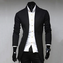 Load image into Gallery viewer, Nesa Fashion Men's Vintage Blazer Coats Knitted Mandarin  Business Dress Blazers Casual Jackets