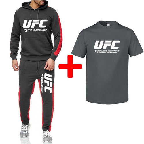 Nesa Fashion 3 Piece Set  Casual fitness printed sports Hoodie + comfortable casual sports pants + short sleeve t-shirt