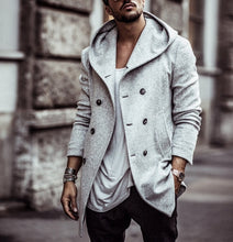 Load image into Gallery viewer, Nesa Fashion Men's Coat   Casual Solid Color Woolen Trench Long Coat
