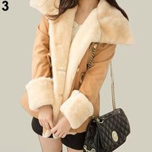 Load image into Gallery viewer, Women's Warm Winter Faux Fur Hooded Warm Coat Overcoat Long Jacket Outwear
