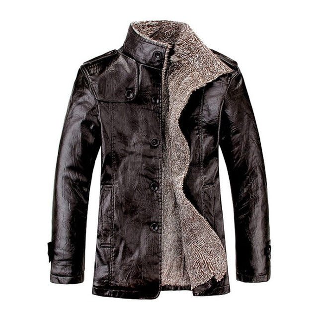 Nesa Fashion Mountainskin 4XL Winter PU Leather Casual Jackets Men Thermal Coats Male Faux Leather Jackets  Warm Brand Clothing SA083