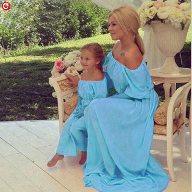 8e26a9a6e448 ... Load image into Gallery viewer, Matching Mother Daughter Clothes Mom  Daughter Dress Matching Mother Family