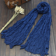 Load image into Gallery viewer, Fashion 20Colors Candy Colors Soft Trendy Long Voile Scarfs Winter Warm Scarf Women Scarf Shawl Blue