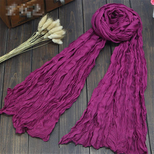 Fashion 20Colors Candy Colors Soft Trendy Long Voile Scarfs Winter Warm Scarf Women Scarf Shawl Blue