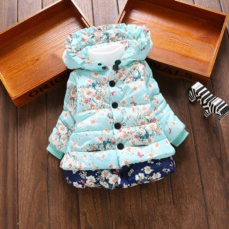 Nesa Fashion Baby Girls Hooded Jackets Girls Fashion Minnie Mickey Cartoon Children Clothing Coat Baby Kids Winter Warm Outerwear Jackets