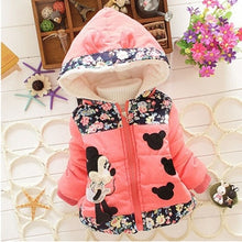 Load image into Gallery viewer, Nesa Fashion Baby Girls Hooded Jackets Girls Fashion Minnie Mickey Cartoon Children Clothing Coat Baby Kids Winter Warm Outerwear Jackets