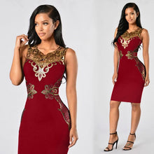 Load image into Gallery viewer, Nesa Fashion Black Sexy Sequin Women Dress Bandage Bodycon Desigual Dress for Women Vestidos Sleeveless Lace Embroidery Party Dresses