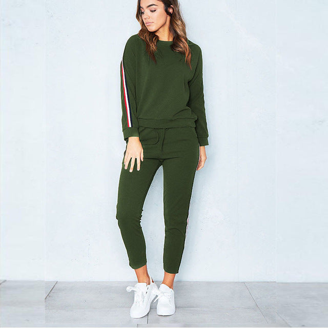 Two Piece Set Sportswear Tracksuits Casual For Women Suit 2018 Autumn Winter Top and Pants Long Sleeve Suit Female S-3XL