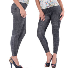 Load image into Gallery viewer, Nesa Fashion Lady Girl Black Sexy Faux Jean Skinny Jeggings Stretchy Slim Pants Plus Size Ankle-Length Pants Women Jeans with High Quality