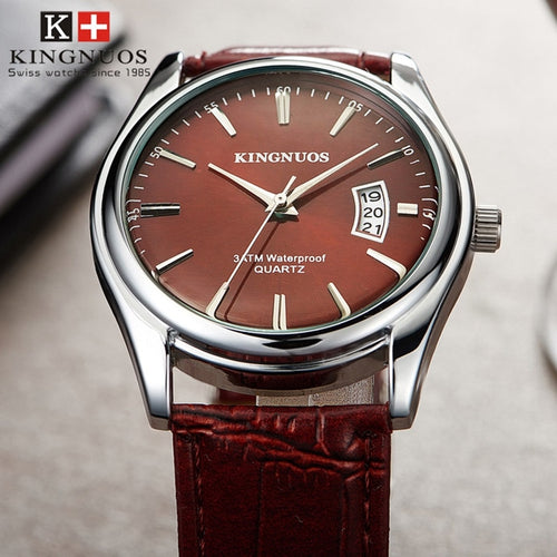 Fashion Simple Men Watch casual Waterproof Quartz Watches Classic Business Leather Wristwatch