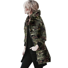 Load image into Gallery viewer, Autumn Winter Womens Hooded Long Sleeve Coat Jacket Windbreaker Casual Camouflage Outwear Female Bomber jacket top Oct 20