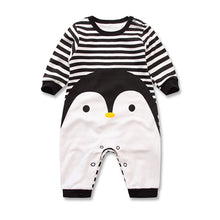Load image into Gallery viewer, 2018 Spring Autumn long sleeved Romper baby clothes children's clothes cartoon Penguin baby animal girl jumpsuit Romper