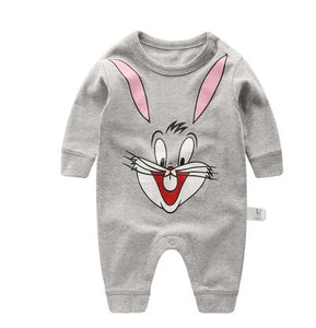 Spring Autumn Long Sleeved Romper Baby Clothes Childrens Clothes Cartoon Penguin Baby Animal Girl Jumpsuit Romper 13,18M
