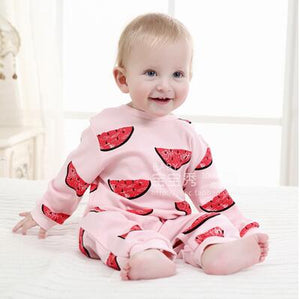 2018 Spring Autumn long sleeved Romper baby clothes children's clothes cartoon Penguin baby animal girl jumpsuit Romper