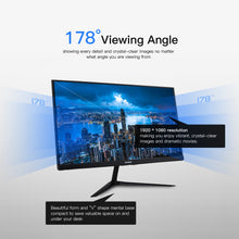 Load image into Gallery viewer, Onebot 21.5in All in One Gaming Desktop Computer Mini PC Dual Core Intel 4GB DDR4 RAM 120G SSD 16:9 FHD 178D angle Office Gamer