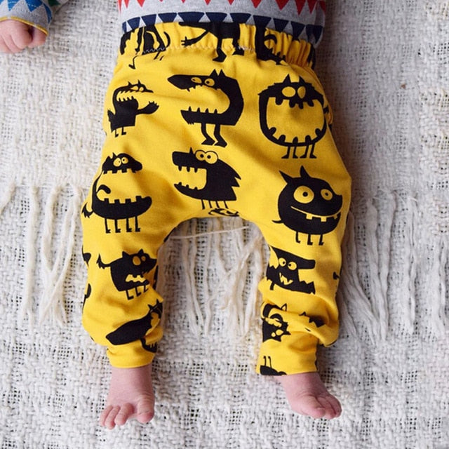 Newborn Baby Boy Girl Kids Monster Bottom Harem Pants Leggings Trousers 0-3Y Cotton Infant Novelty Children Loose Pants