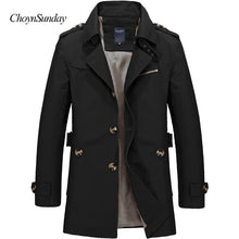 Load image into Gallery viewer, Nesa Fashion Men Jacket Coat Long Section Fashion Trench Coat Jaqueta Masculina Veste Homme Brand Casual Fit Overcoat Jacket Outerwear 5XL