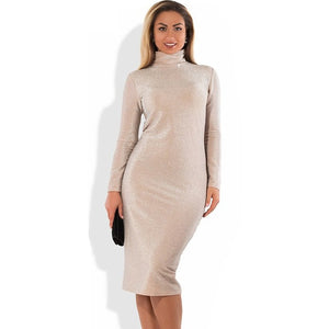 Nesa Fashion Bodycon Bandage Dress Metallic Knitted Sexy Party Dress Big Size Winter Dress