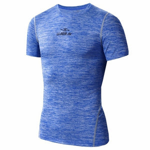 Nesa Fashion Shirt Short Sleeve Solid Running T-shirts Men Summer Fitness Male Quick Dry Bodybuilding Crossfit Tops M-2XL