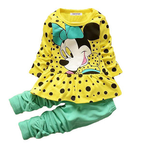 Nesa Fashion -  Boys & Girls Cotton Spring Autumn sport suit Kids Clothing set Kids Casual clothes baby boys & Girls dot print set