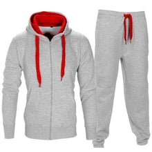Load image into Gallery viewer, LASPERAL Tracksuit Men 2018 Autumn Sportwear Fashion Mens Set 2PC Zipper Hooded Sweatshirt Jacket+Pant Moleton Masculino Sets