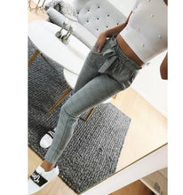 Load image into Gallery viewer, New 2018 Fashion spring Vintage gray grid casual pants women pants trousers female streetwear capris summer pants