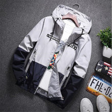Load image into Gallery viewer, Nesa Fashion New Spring Autumn Bomber Hooded Jacket Men Casual Slim Patchwork Windbreaker Jacket Male Outwear Zipper Thin Coat Brand Clothing