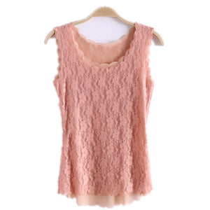 Nesa Fashion Women Tank Tops Fashion Lace Women's Tank Crochet Embroidery Fitness Summer Casual Blouse Camisole Sleeveless Shirt For Female