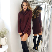 Load image into Gallery viewer, Women Turtleneck Knitted Sweaters 2018 New Spring Autumn Long Sleeve Loose Elastic Female Pullover Long  Pull Femme Sweter Mujer