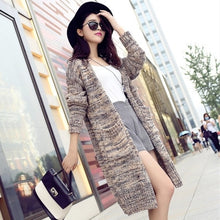 Load image into Gallery viewer, Autumn Winter Cardigan Women New Jumper Korean Loose Long Casual Sweater Coat Female Big Sweaters Shirt Clothing Vestidos LXJ290