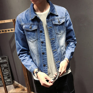 ZhenZhou M-5XL 5 Styles Autumn Winter Fashion Denim Jackets Men Jeans Slim Fit Mens Jackets And Coats Casual Bomber Jacket Men