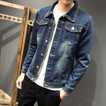 Load image into Gallery viewer, ZhenZhou M-5XL 5 Styles Autumn Winter Fashion Denim Jackets Men Jeans Slim Fit Mens Jackets And Coats Casual Bomber Jacket Men