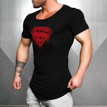 Load image into Gallery viewer, Nesa Fashion Brand Cotton mens gyms Clothing Male Slim Fit t shirt Man fitness T-shirts Casual O-neck T-Shirts superman print mens tops tees