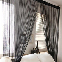 Load image into Gallery viewer, Door Windows Panel Curtainf for Living Room 200cm x 100cm Divider Yarn String Curtain Strip Tassel Drape Decor Elegant Style