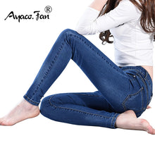 Load image into Gallery viewer, Nesa Fashion Slim Jeans For Women Skinny Jeans Woman Blue Denim Pencil Pants Stretch Full Length Lady Jeans Blue Pants Calca Feminina