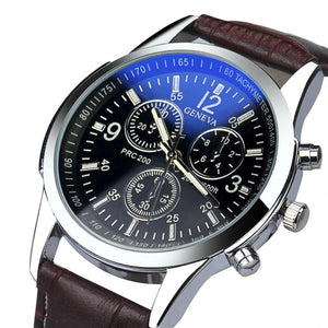Men's Fashion Watch Luxury Fashion Faux Leather Mens Analog Watch Watches