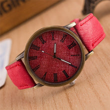 Load image into Gallery viewer, Roman Numberals High Quality Denim Fabric Band Montre Femme Dress Women Wrist Watches W009