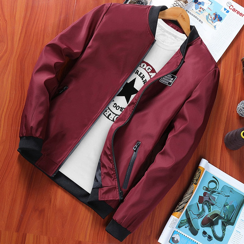 Young men's clothing of new fund of 2018 autumn printing jacket trend of cultivate one's morality thin jacket