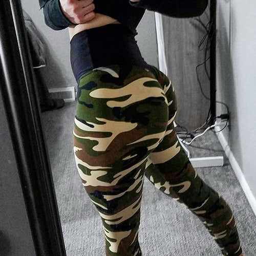 NIBESSER Leggings Women Pants Sportswear Camouflage Slim Hip Pants Bottom Plus Size S-XL Sexy Trousers 2018 Femme Gothic Legging