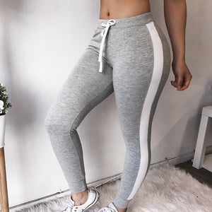 CALOFE Drawstring Women Skinny Pants Slim High Waist Elastic Striped Pant Femme Solid Lady Trousers Fashion Pencil Capris 2018