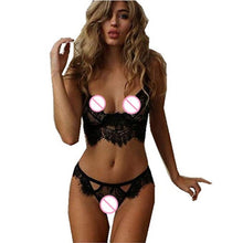 Load image into Gallery viewer, Sexy Lingerie Lace Hot Bra Set Transparent Babydoll Sleepwear Plus Size Sexy Bra Set Erotic Lingerie Women Underwear Set Costume