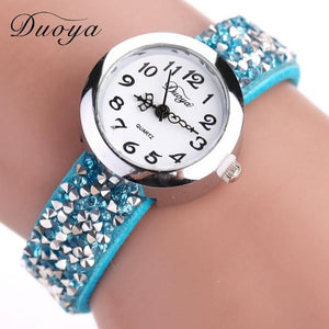 Women Fashion Crystal Rhinestone Bracelet Watch Ladies Quartz Luxury Vintage Women Watch Gift