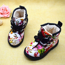 Load image into Gallery viewer, Nesa Fashion  Kids Girls Boots Autumn And Winter PU Leather Waterproof Boots Zip Rome Children Martin Boots Fashion Baby Girl Shoes