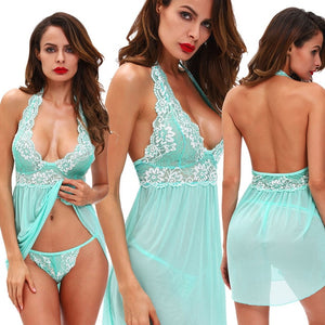 USA Women's Lingerie Babydoll Sleepwear Underwear Lace Dress G-string Nightwear